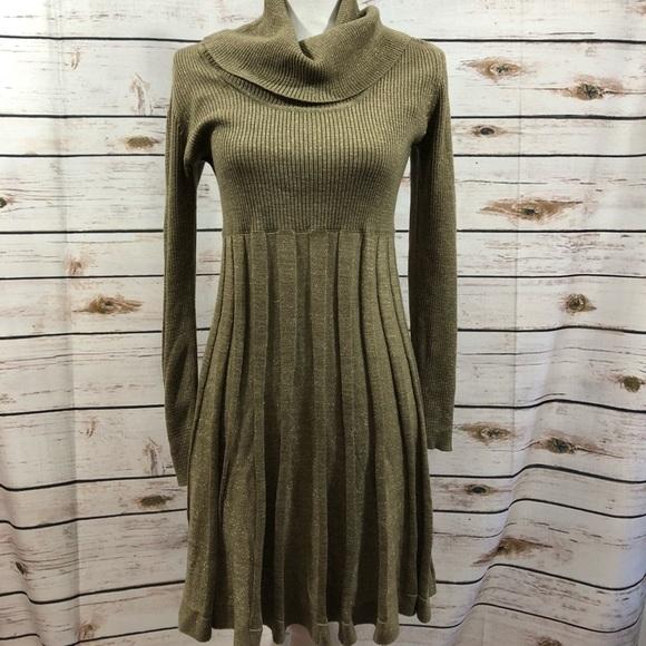 bf9bb80164 Calvin Klein Dresses   Skirts - CALVIN KLEIN sweater dress M cowl neck  pleated